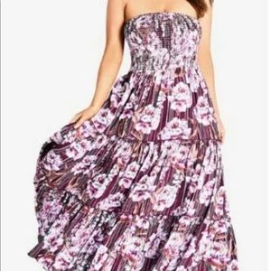 Arthouse Floral Maxi Dress by CityChic